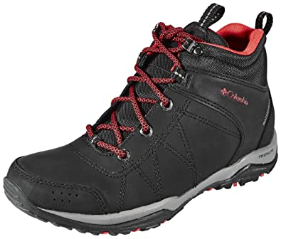 Columbia Fire Venture Shoes Women Mid WP black / burnt henna 37 2017 Trekking- & Wanderschuhe