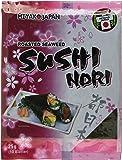 Miyako Seealgen,geröstet (Sushi Nori), 1 Packung = 10 Blatt = 25 g, 2er Pack (2 x 25 g)