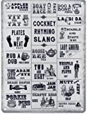 Cockney Rhyming Slang Metal Sign Nostalgic Vintage Retro Advertising Enamel Wall Plaque 200mm x 150mm