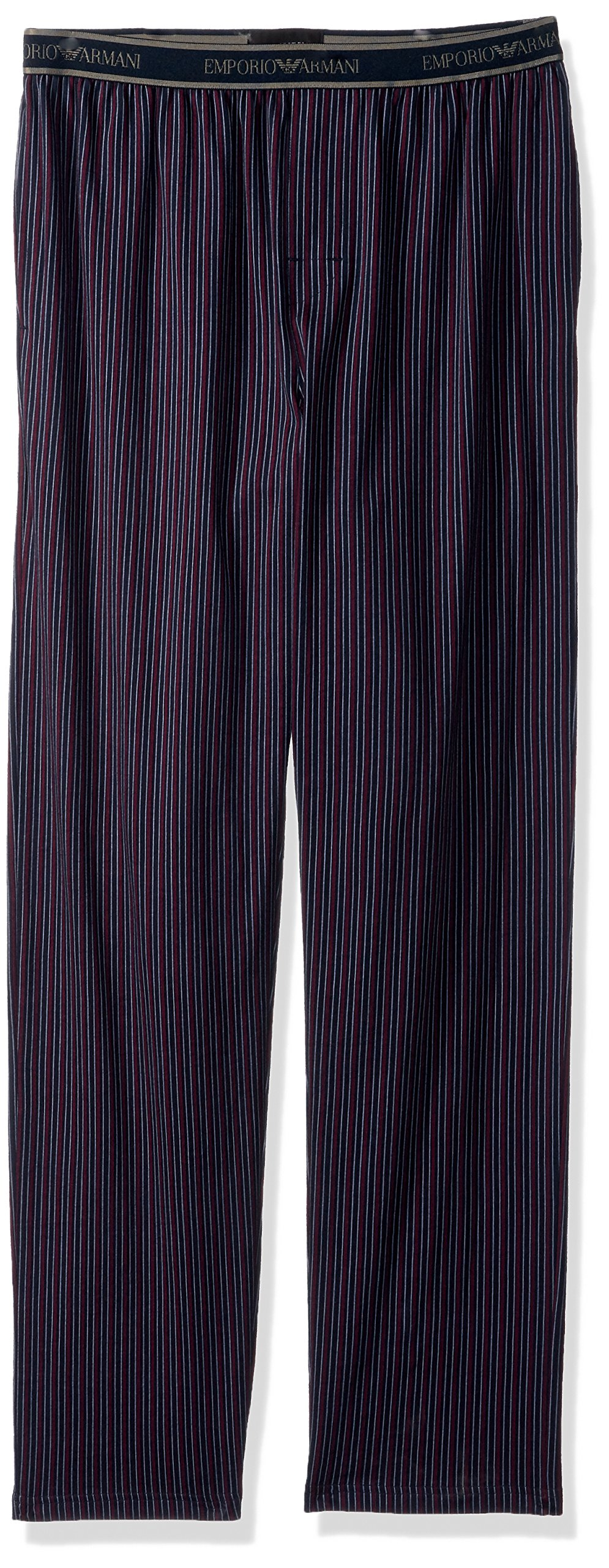 Emporio Armani Men's Jersey Printed Patterns Trousers, Vertical Line, L