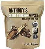 Anthony's Organic Cassia Cinnamon Powder (1lb) Ground, Gluten Free & Non-GMO