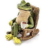 Miniature Frog Garden Statue - 2 Tall - Mini Outdoor Accessory Figurine for Fairy Garden