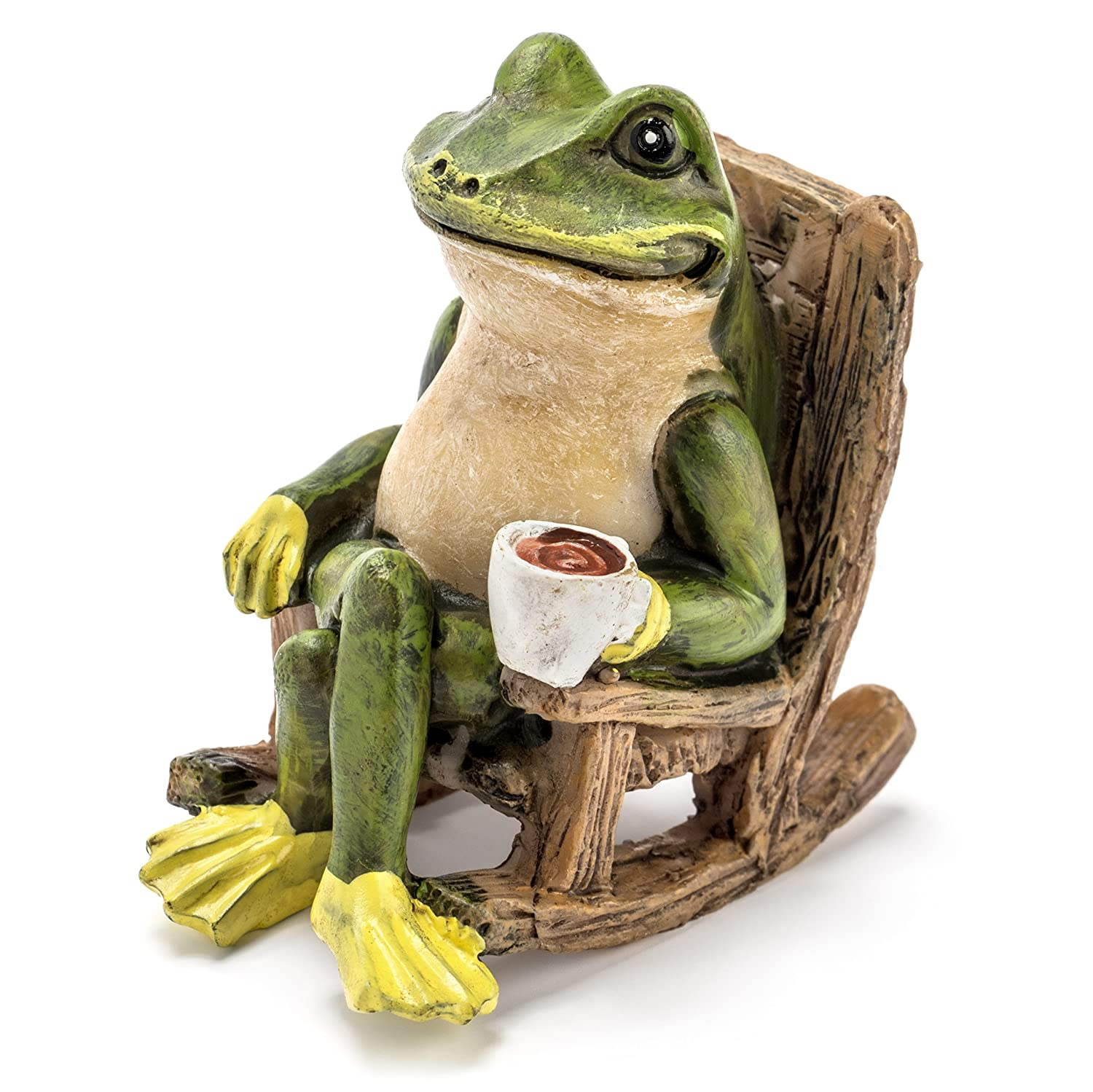 "Miniature Frog Garden Statue - 2"" Tall - Mini Outdoor Accessory Figurine for Fairy Garden"
