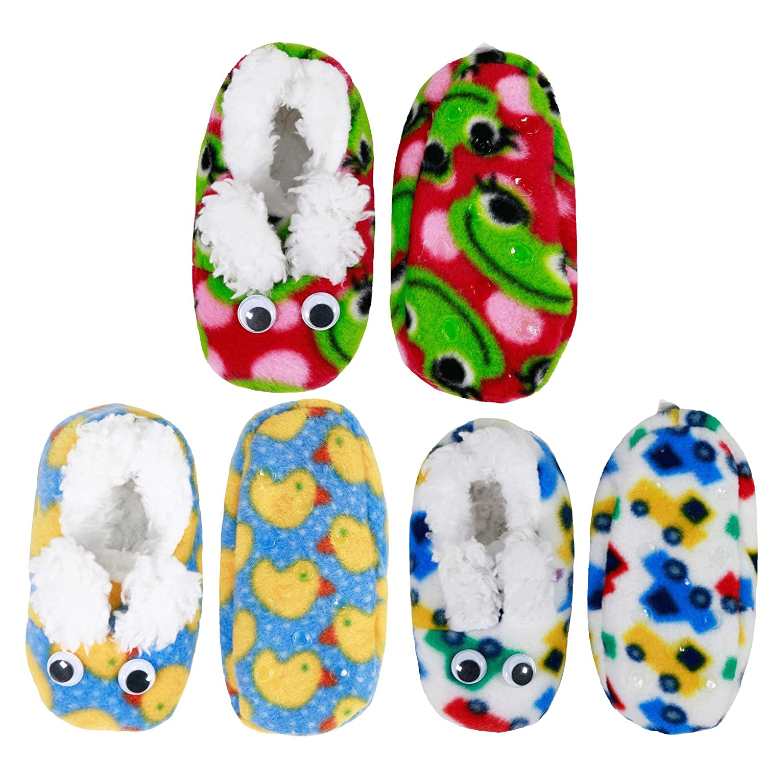Infants Toddler Soft Warm Plush Cozy Fuzzy Cartoon Animal Slippers Booties Socks Shoes 6955114934687a