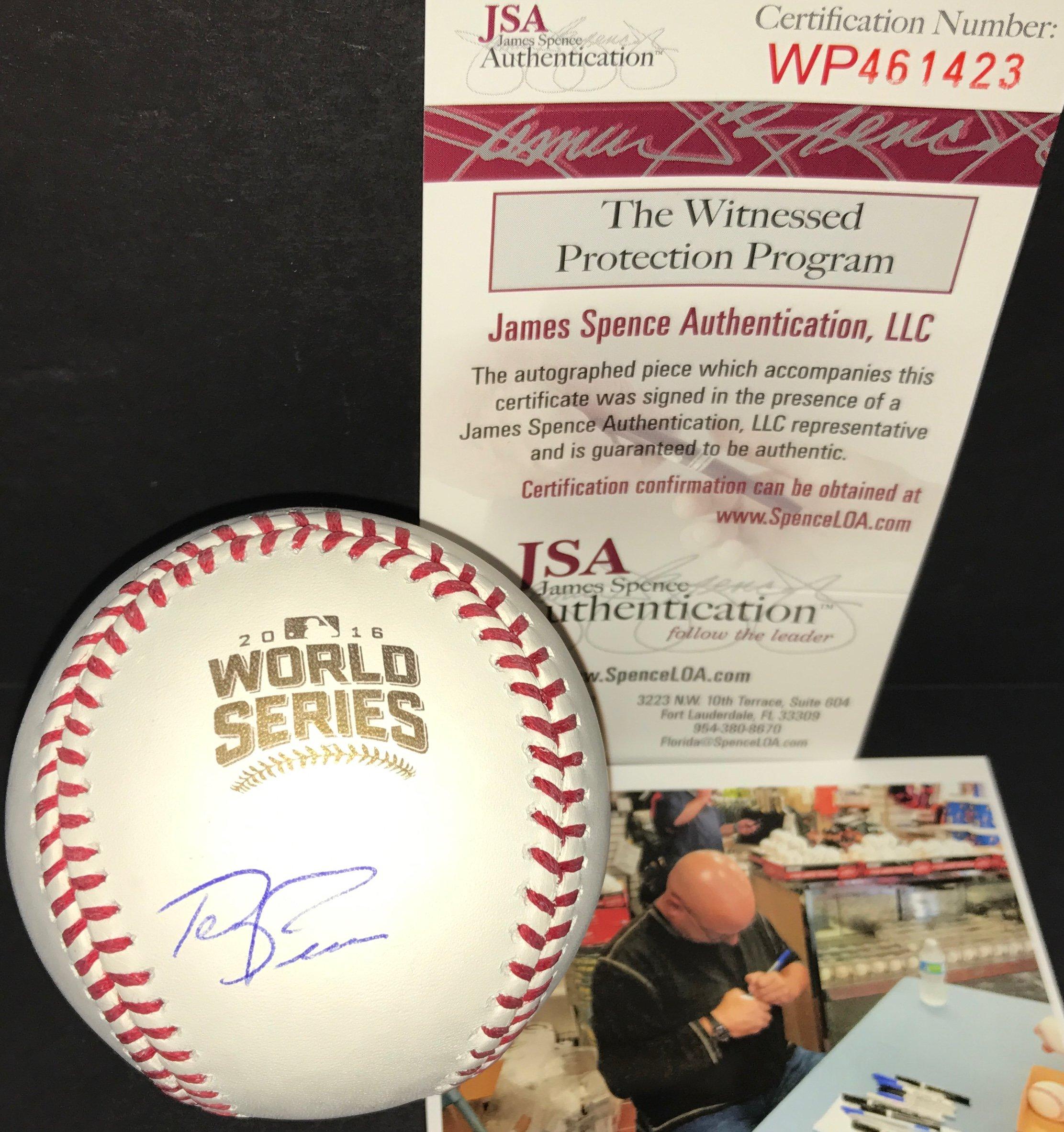 Terry Francona Cleveland Indians Autographed Signed 2016 World Series Baseball Proof JSA COA