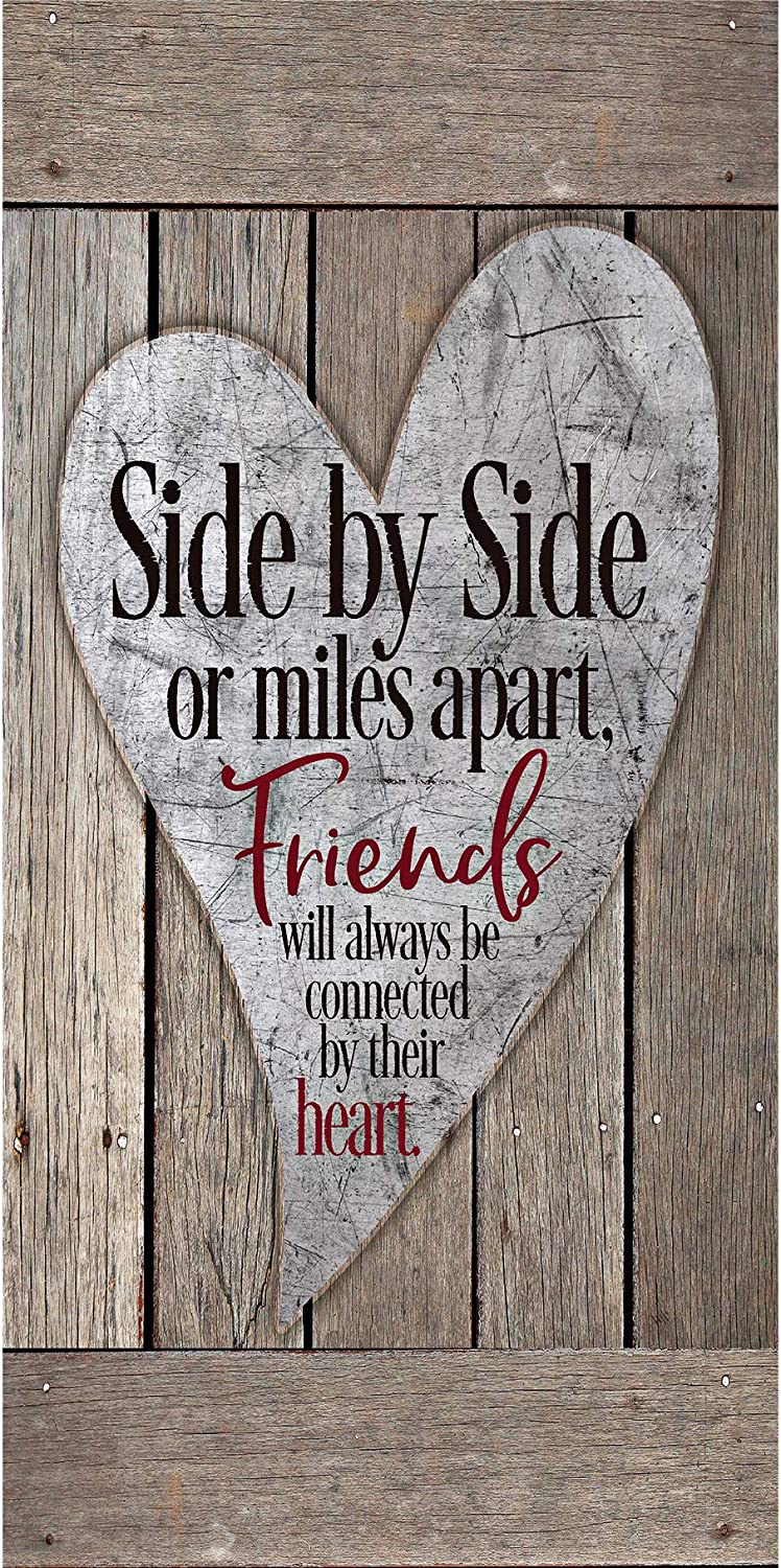 "Friends Wood Plaque Inspiring Quotes 6 3/4"" x 13 5/8"" - Classy Vertical Frame Wall Decoration 