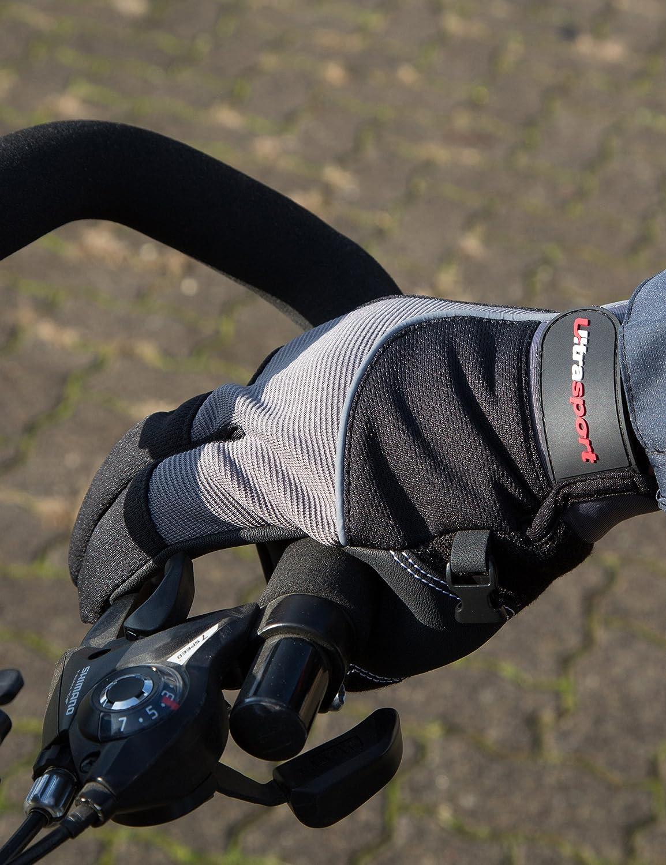 M Noir//Gris Ultrasport écran tactile vélo gants Race