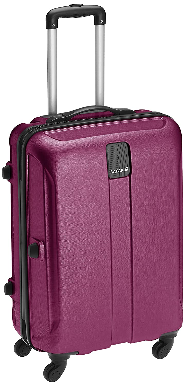 d69e92226b Safari Thorium Stubble 66 Cms Polycarbonate Purple Check-In 4 wheels Hard  Suitcase  Amazon.in  Bags