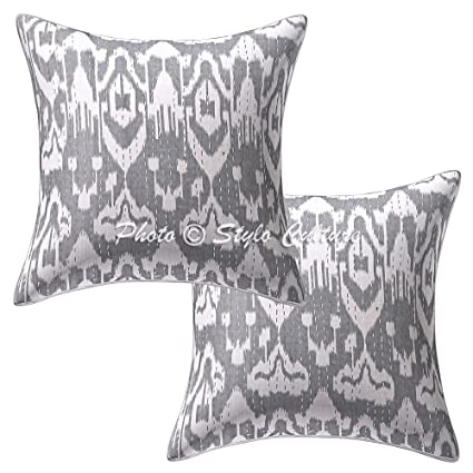 Amazon Stylo Culture Indian Kantha Printed Decorative Pillow Enchanting Decorative Pillow Slipcovers