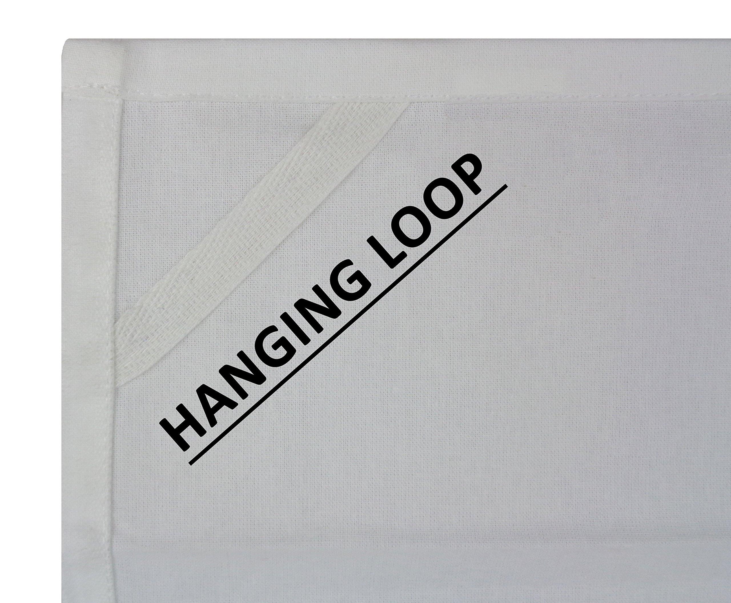 Cotton Craft 12 Pack Flour Sack Kitchen Towel Napkins - 100% Pure Ringspun Cotton - White - 28x28 Heavy Weight 900 Gram / 32 Ounce Woven Low Lint Construction - Multi Purpose & Versatile by Cotton Craft (Image #1)