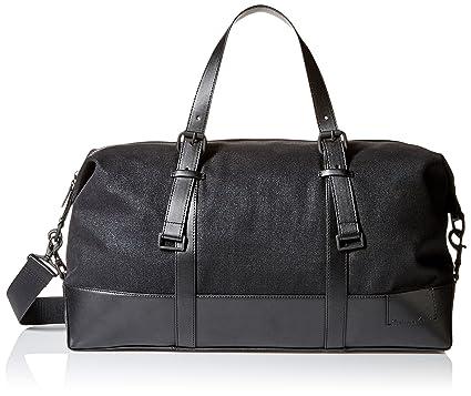 071078b0b7e Amazon.com: Calvin Klein Men's Coated Canvas Duffle, Black, One Size ...