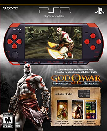 Amazon Com Playstation Portable Limited Edition God Of War Ghost