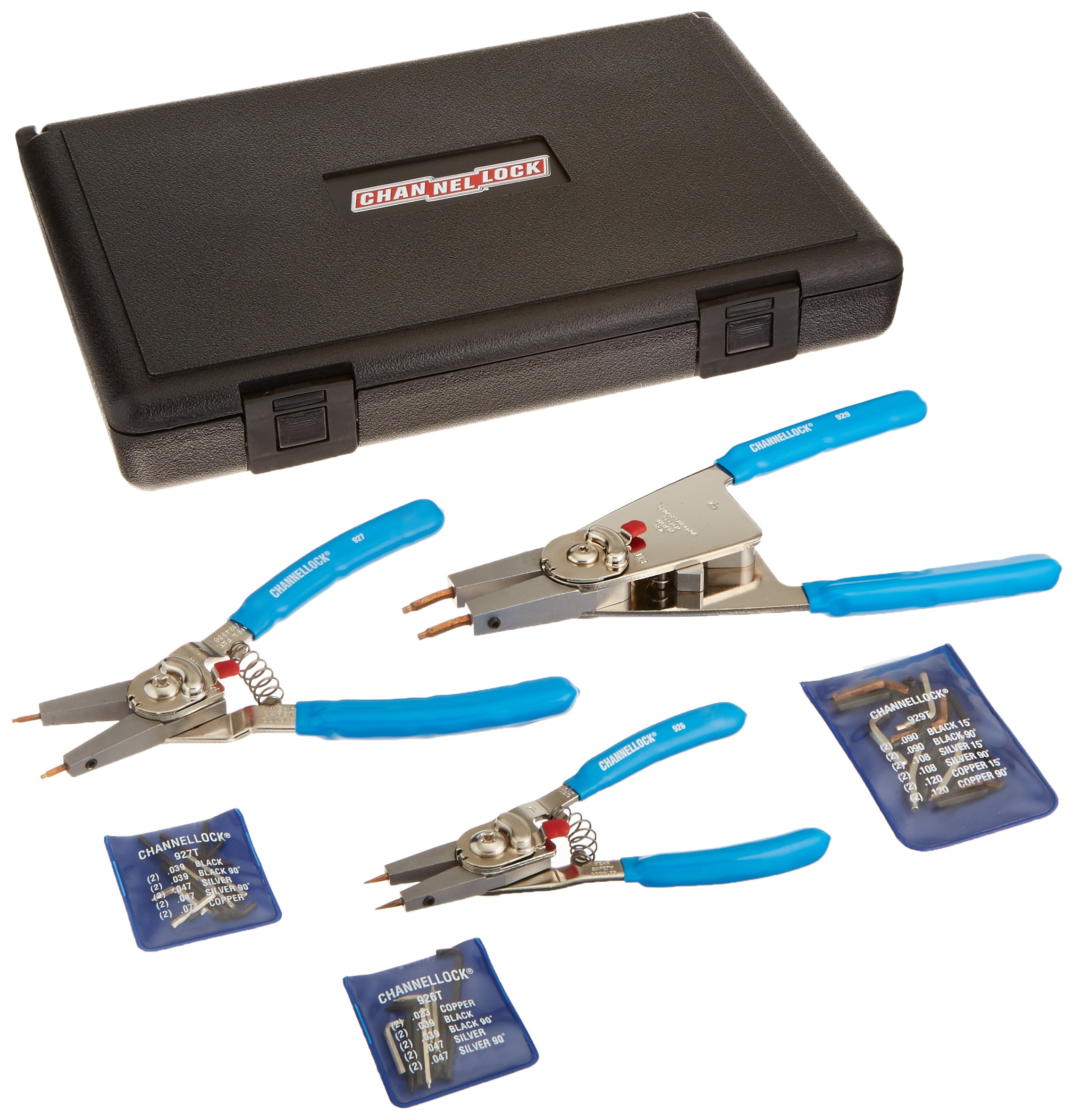 Channellock RT-3 Convertible Retaining Ring Plier Set, 3-Piece by Channellock