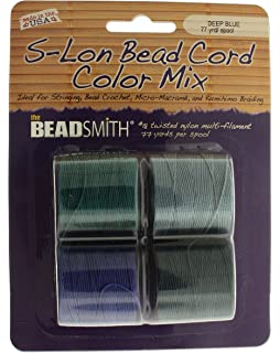 Bead Cord S-LON MARINE 4 Color Mix Extra Heavy #18 Twisted Nylon Cord