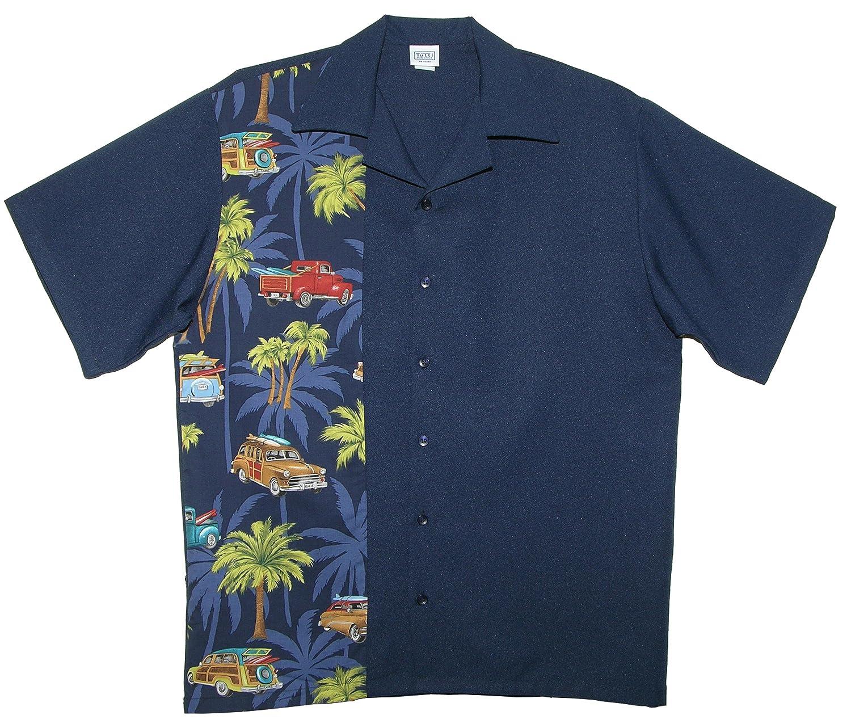 Tutti Retro Bowling Shirts Hawaiian Surf Board Woody Cars Print At