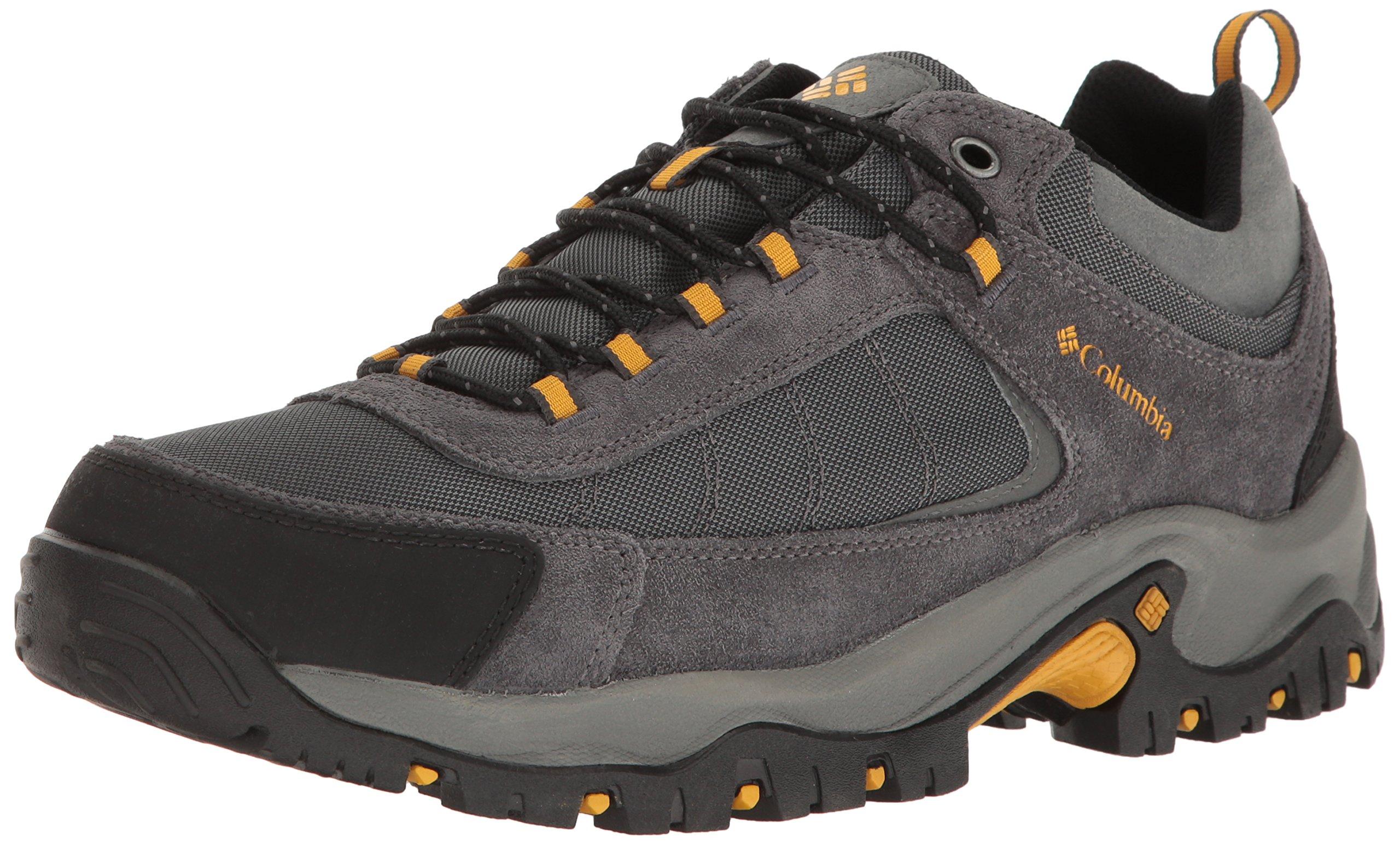 Columbia Men's Granite Ridge Waterproof Hiking Shoe Dark Grey, Golden Yellow 11 D US