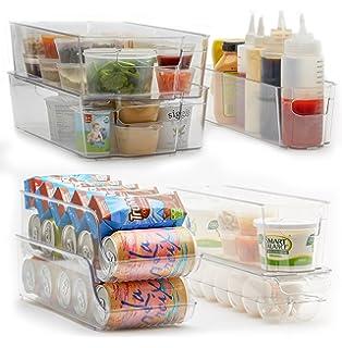 Amazoncom Sorbus Fridge Bins and Freezer Organizer Refrigerator