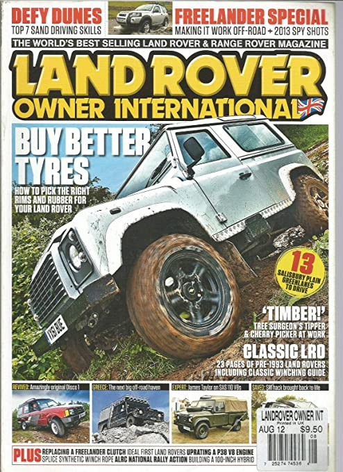 Amazon.com: LAND ROVER OWNER INTERNATIONAL MAGAZINE AUGUST 2012: Everything Else
