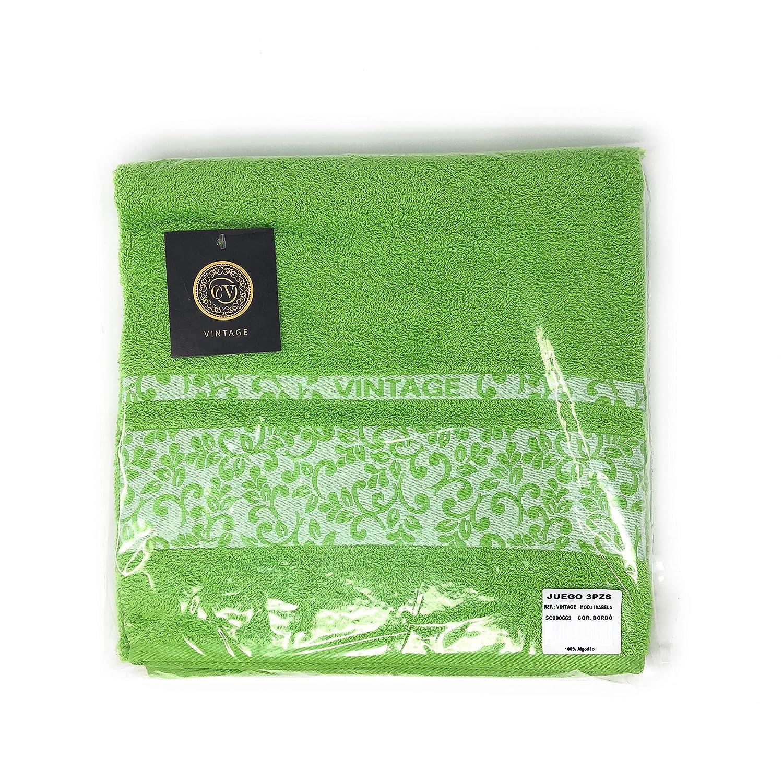 Chocolate 30x50 cm 3 Piezas: S/ábana de ba/ño Vintage Juego de Toallas 100/% Algod/ón de 450 Gr//m2 Cabello Textil Hogar 100x150 cm 50x100 cm - Tocador - Bidet