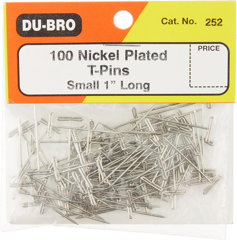 """Du-Bro 252 1"""" Nickel Plated T-Pin"""