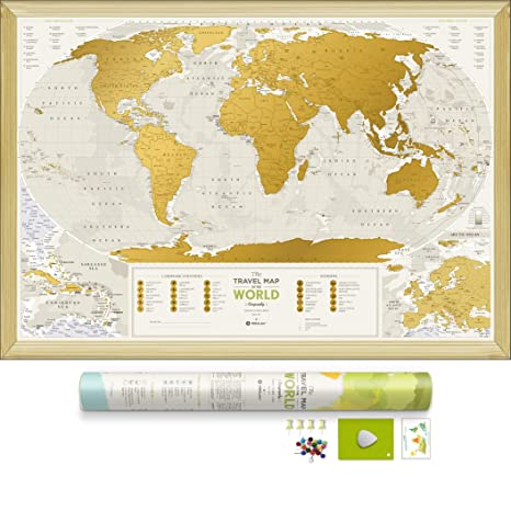 Amazoncom Detailed Scratch Off World Map Premium Edition - Map of places i have been