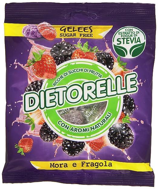 88 opinioni per Dietorelle Caramelle Gelées, Mora e Fragola con Estratto di Foglie di Stevia- 70