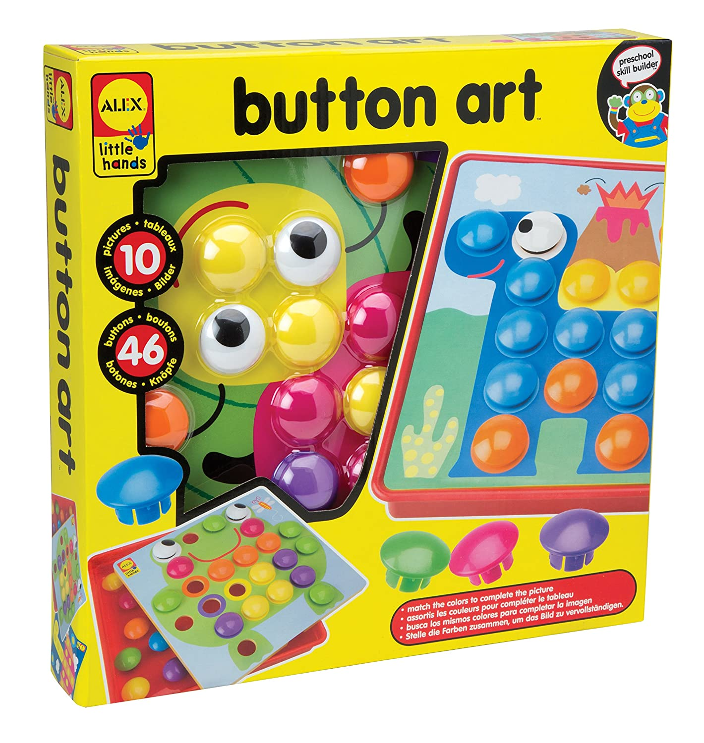 Amazon ALEX Toys Little Hands Button Art Toys & Games