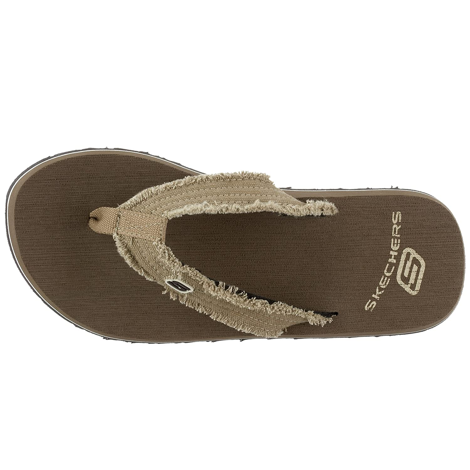 Skechers Tantric Fray Brown Men Shoes Thong Sandals [M