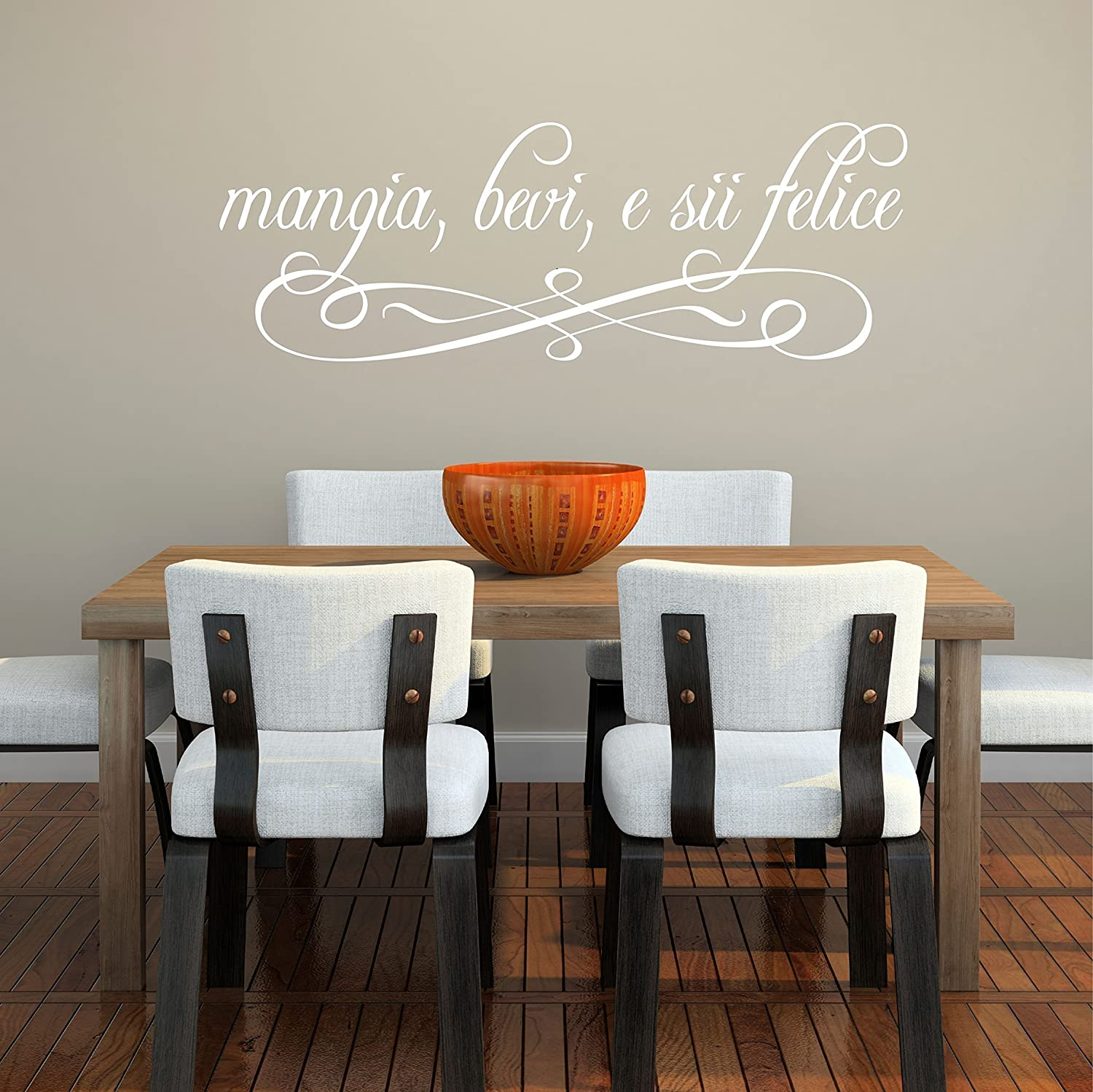 eat drink and be merry italian wall decal handmade