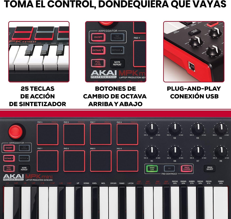 AKAI Professional MPK MINI MKII: Amazon.es: Electrónica