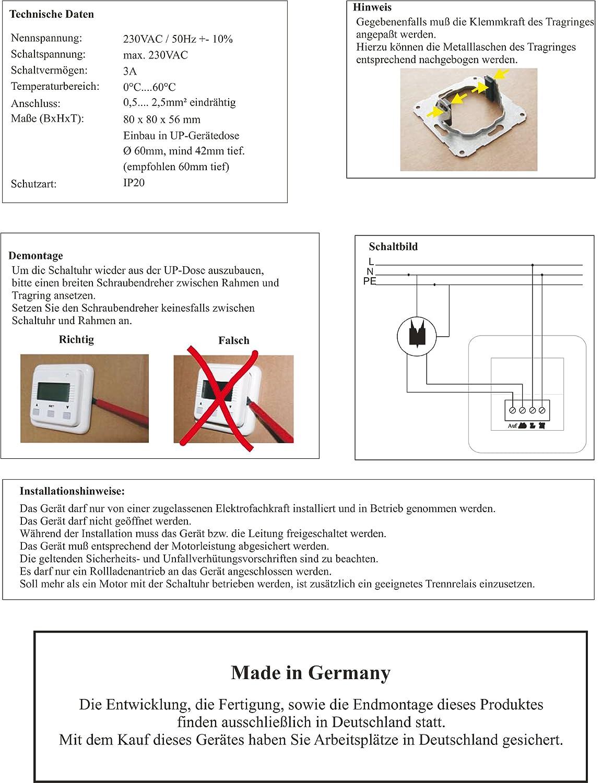 Simu Rolladen / Jalousie Zeitschaltuhr für Rolladenmotor und ...