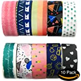 Rembrandt Washi Tape Kit - Set of 10 Vintage Designs - Large 5m Rolls Create Impactful and Unique Decorations - Art & Craft, Scrapbooking, DIY, Japanese Masking Tape