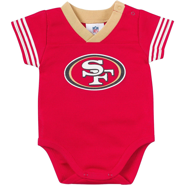 Amazon NFL San Francisco 49ers Dazzle Mesh V Neck Bodysuit 18