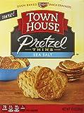 Town House Pretzel Thins Oven Baked Crackers, Sea Salt, 10 Ounce
