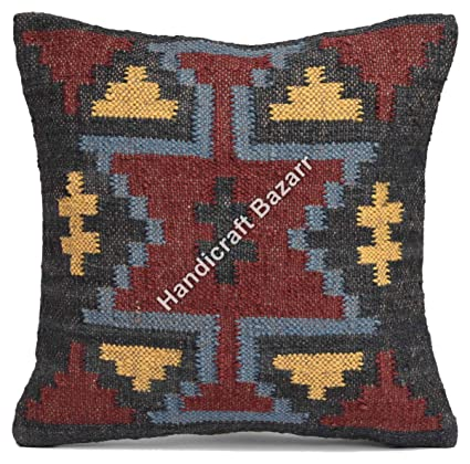 Peachy Amazon Com 18 Pillow Vintage Indian Handmade Couch Cushion Caraccident5 Cool Chair Designs And Ideas Caraccident5Info