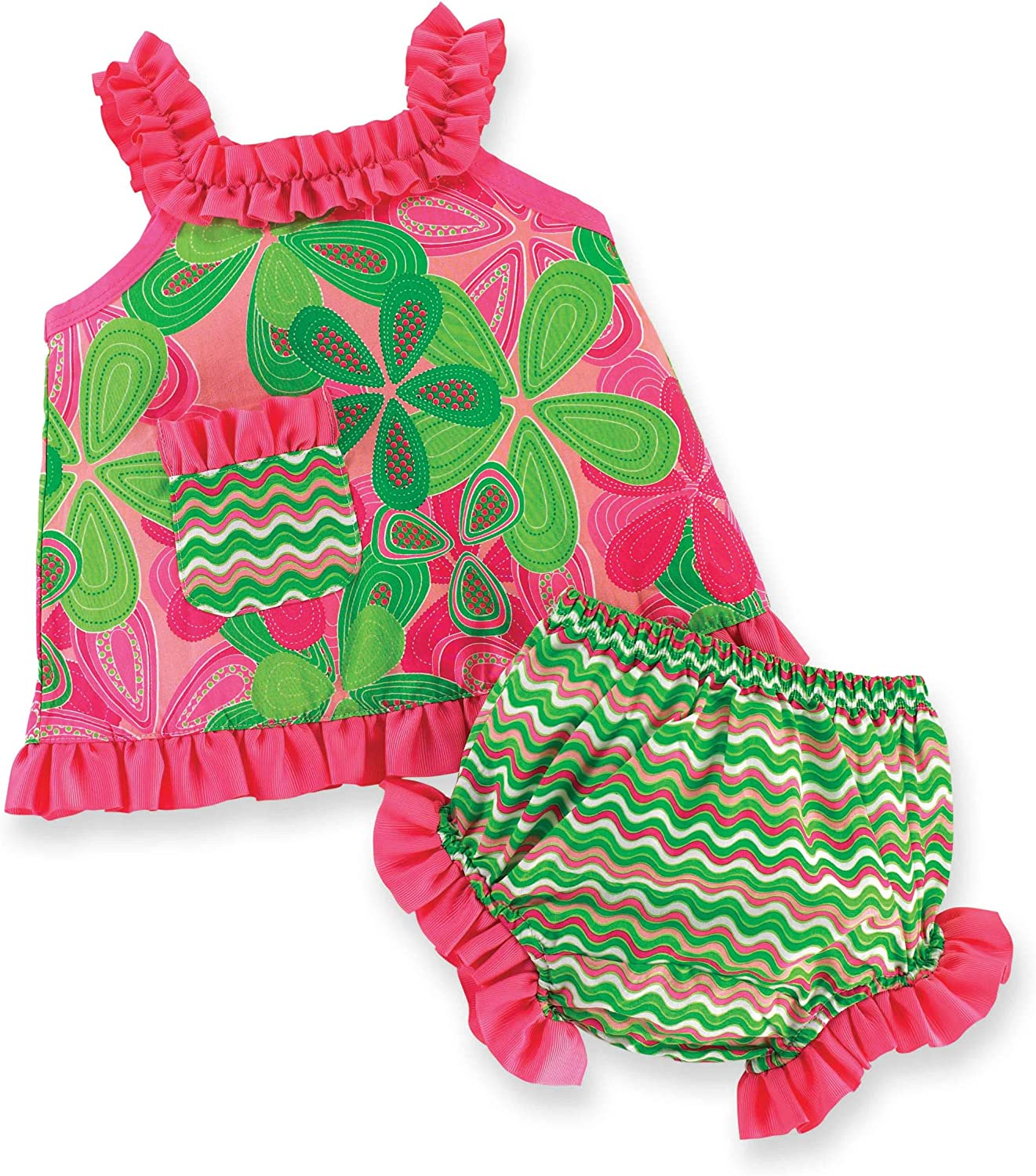 Mud Pie Baby-girls Newborn Little Sprout Swing Top and Bloomer Set