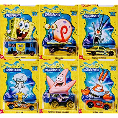 Hot Wheels Spongebob 20 Best Year Ever 6 Car Bundle Set: Toys & Games [5Bkhe1105124]