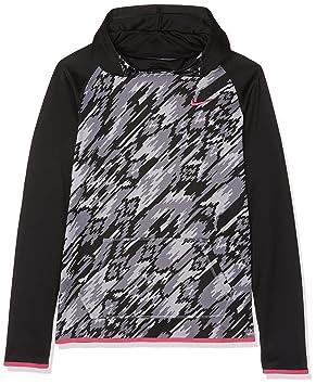 Nike G NK Thrma Hoodie PO AT AOP2 - Sudadera para niña, Color Negro, Talla L: Amazon.es: Deportes y aire libre