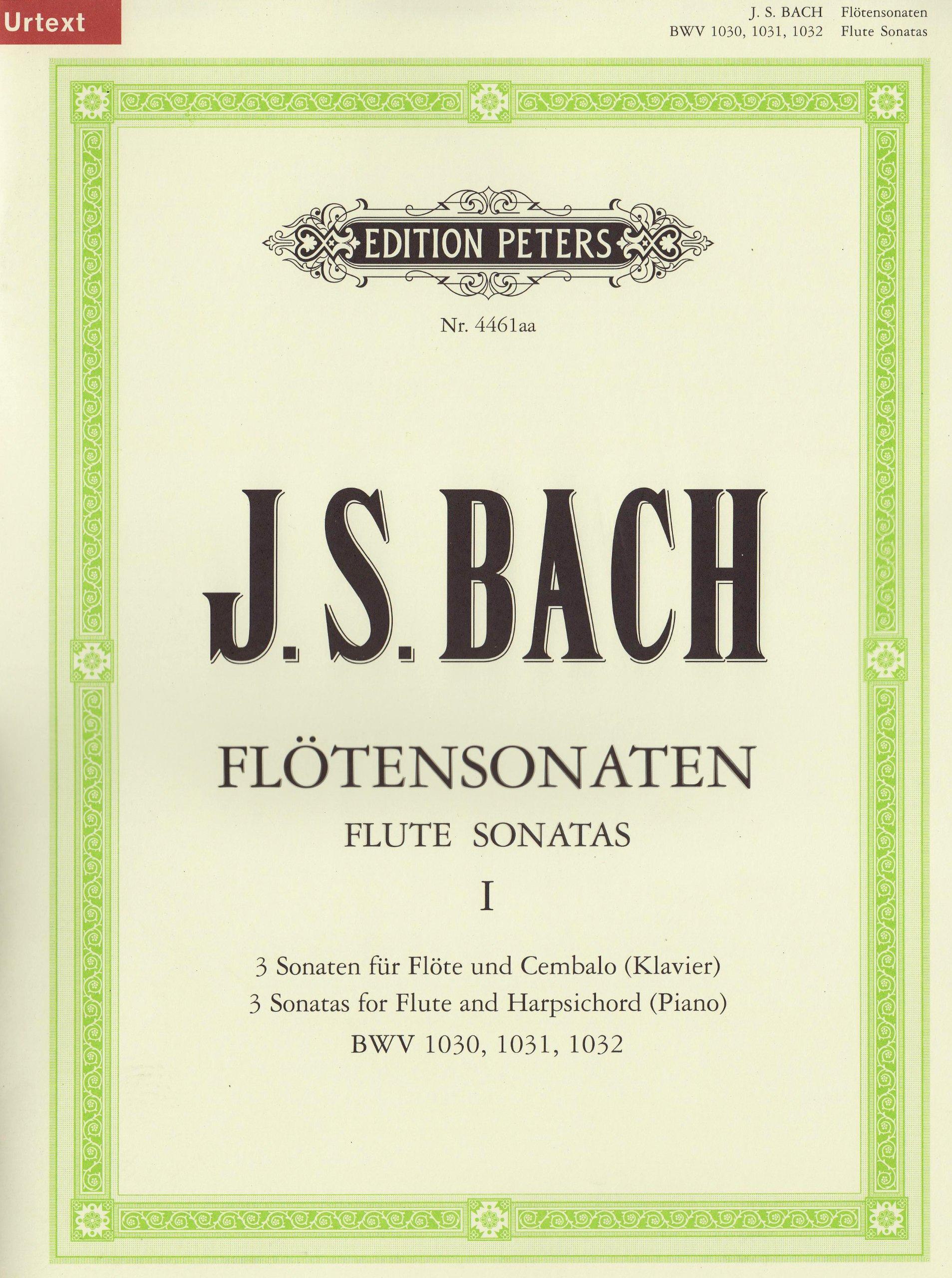 Sonaten Fur Flote Und Cembalo Bwv 1030 - 1032 Flûte Traversiere (Allemand) Brochure – 1 janvier 2000 Johann Sebastian Bac Peters B00006M2JS Musikalien