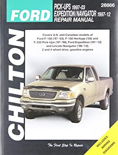ford pick ups expedition and lincoln navigator 1997 2009 chilton s rh amazon com ford f150 repair manual download ford f150 repair manual download