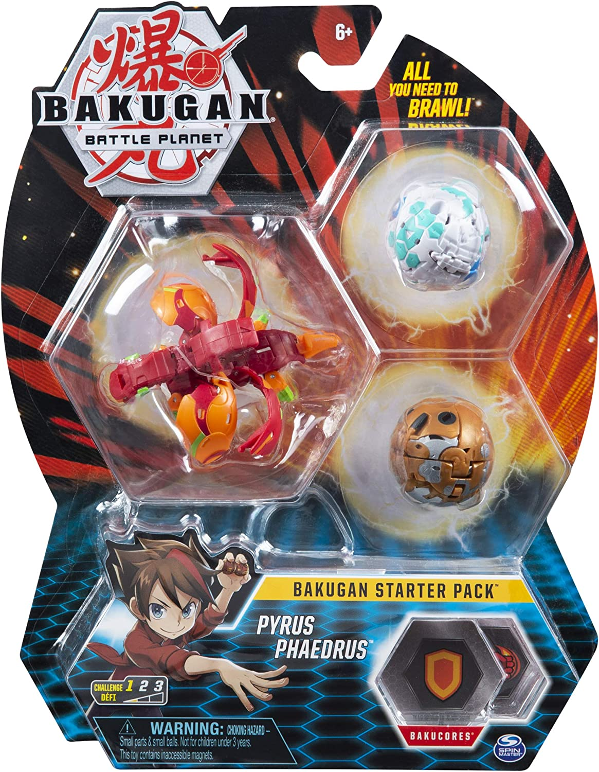 BAKUGAN Starter Pack Set Assortment (Styles May Vary-One Supplied) Surtido de Paquetes de iniciación (Estilos Pueden Variar, uno Incluido), Color Multicolor. (Spin Master Toys Ltd 6045144)