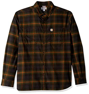 32fa538ca3046e Carhartt Men's Rugged Flex Hamilton Plaid Shirt at Amazon Men's ... carhartt  flannel shirts