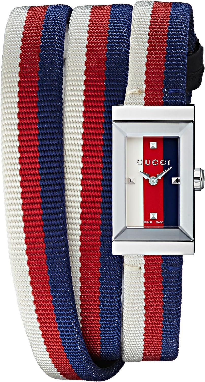 Gucci G-Frame - YA147502 Blue/Red One Size
