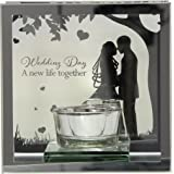 Wedding Day Sentiment Tea Light Candle Holder Gift