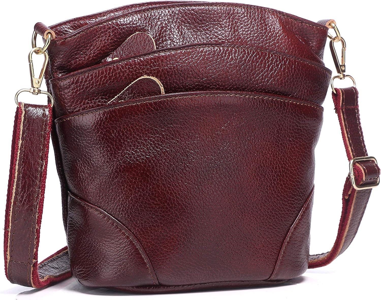 Genuine Leather Triple...