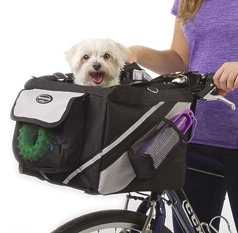 772c313076dd Jack and Dixie Traveler 2-in-1 Pet Bike Basket and Over The Shoulder Carrier