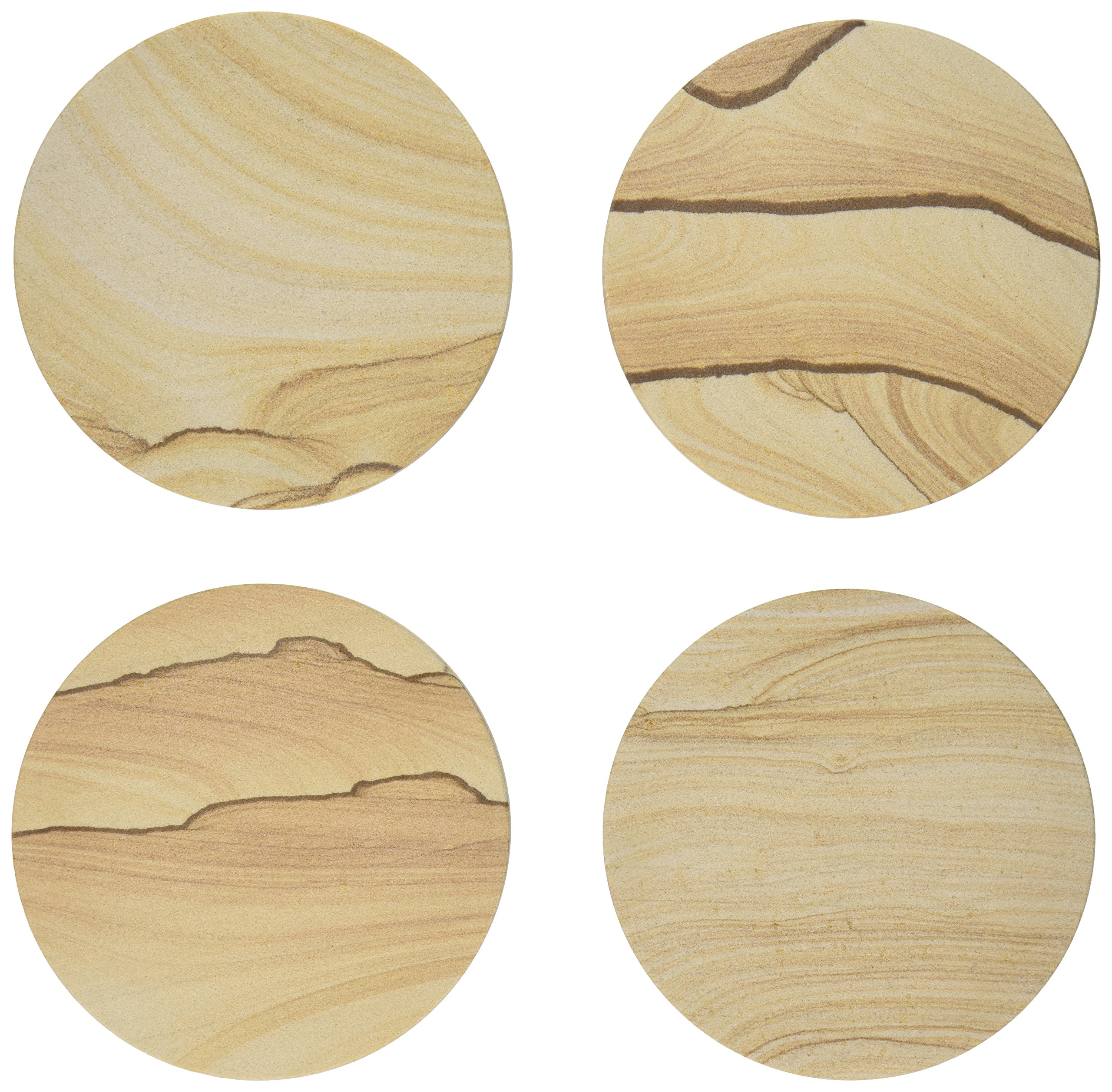 Thirstystone drink coasters tan new - Sandstone drink coasters ...