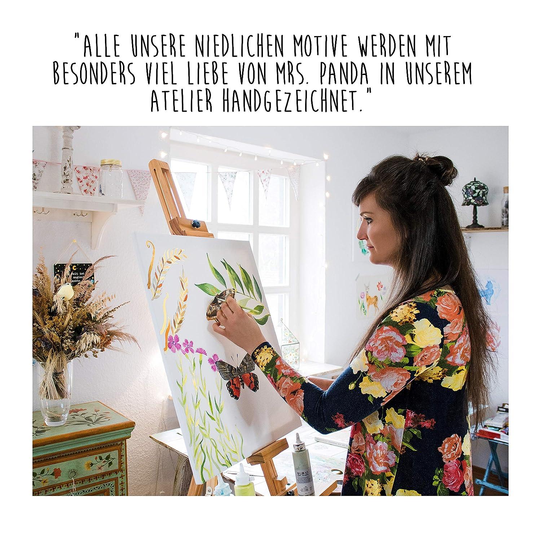 Farbe Grau Pastell Panda Schule Sch/ülerin Federmappe Fledermaus fliegend Mr /& Mrs