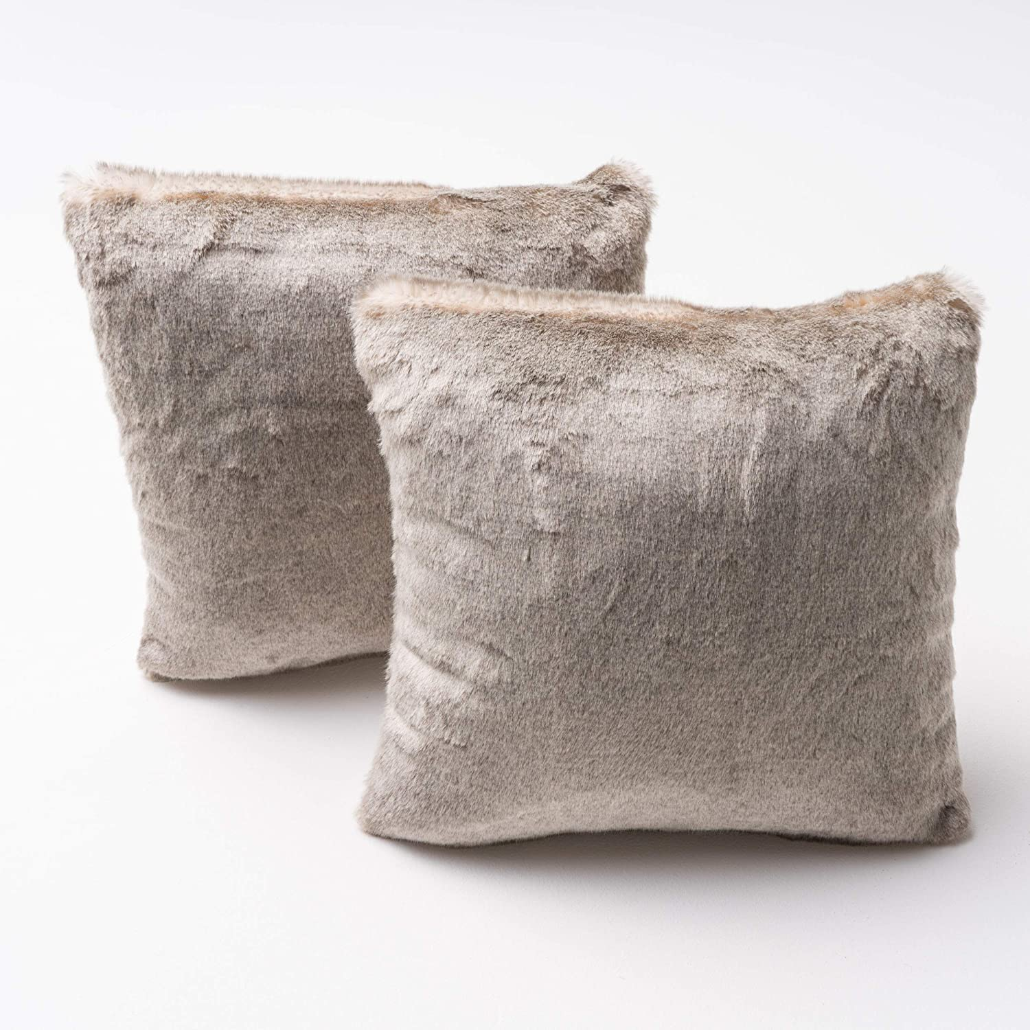 Christopher Knight Home Elise Fabric Pillows with Polyester Fiber Fill, 2-Pcs Set, Light Brown