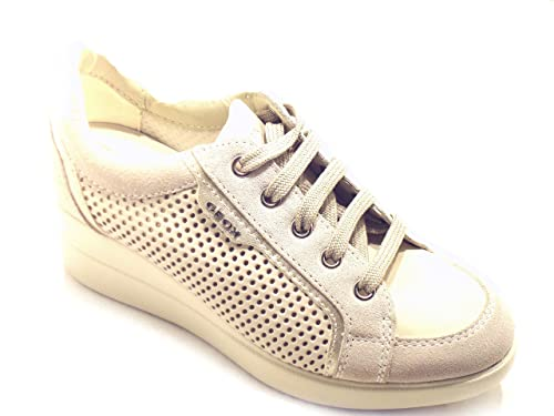 Geox Women's Trainers Off White: Amazon.co.uk: Shoes & Bags